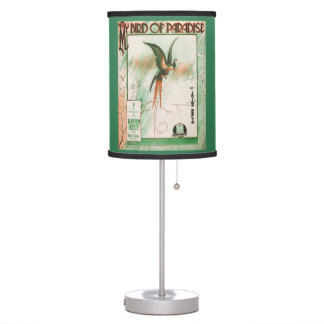 My Bird of Paradise Vintage Music Sheet Cover Table Lamp
