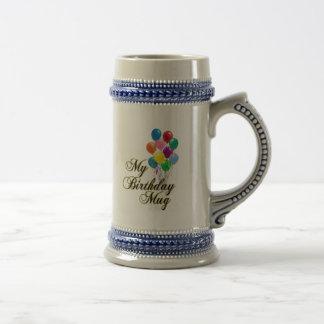 My Birthday Coffee Mug Beer Stein