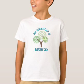 My Birthday Is Earth Day Kids T-Shirt