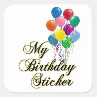 My Birthday Sticker