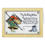My Birthday Wishes 1908 Vintage Greeting Card