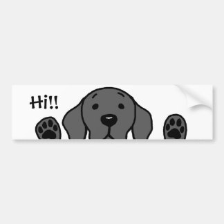 "My Black Lab ""Hi!!"" Bumper Sticker"