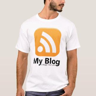 My Blog RSS logo T-shirt for men