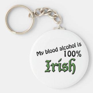 My blood alcohol is 100% Irish Keychain