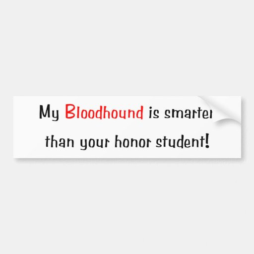 My Bloodhound is smarter... Bumper Sticker