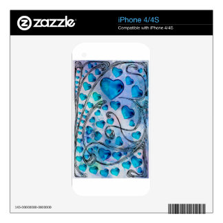 MY BLUE HEARTED VALENTINE iPhone 4S SKINS