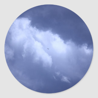 My Blue Heaven Classic Round Sticker