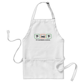 My Boarding School - Fun Boarder Design with Text Adult Apron