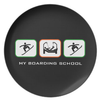 My Boarding School - Fun Boarder Design with Text Party Plate