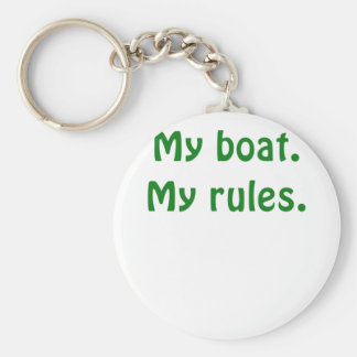 My Boat My Rules Basic Round Button Keychain