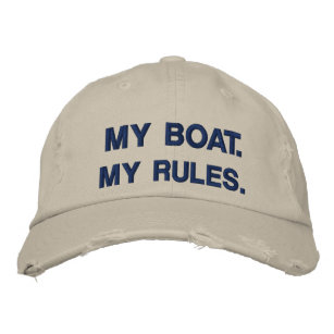 7cdd612e5bad8 My Boat. My Rules - funny boating Embroidered Baseball Hat