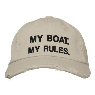 My Boat. My Rules - funny boating Embroidered Baseball Caps