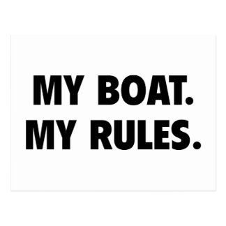 My Boat. My Rules. Postcard