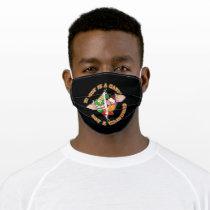 My Body is a garden not a graveyard Vegan Vintage Adult Cloth Face Mask
