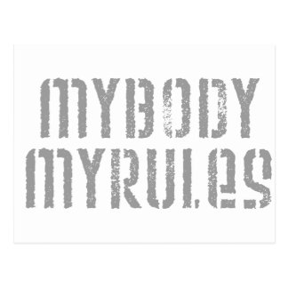 My Body My Rules Post Cards