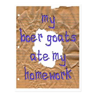 My Boer Goats Ate My Homework Postcard