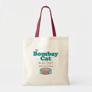 My Bombay Cat is All That Funny Kitty Canvas Bags