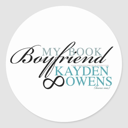 My book boyfriend - Kayden Classic Round Sticker