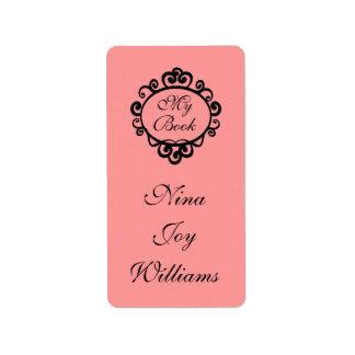 My Book Personalized Bookplate Sticker Gift Label
