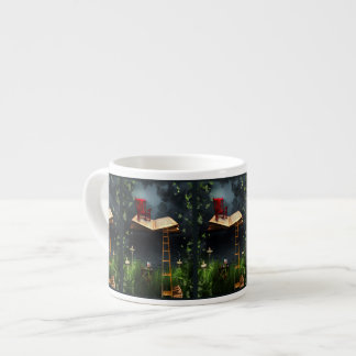 My Book Said Come Fly With Me Art Espresso Mug