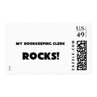 MY Bookkeeping Clerk ROCKS! Postage Stamps