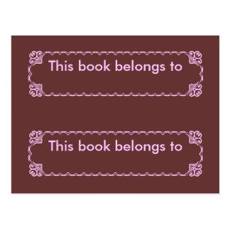 My Bookmark Postcard