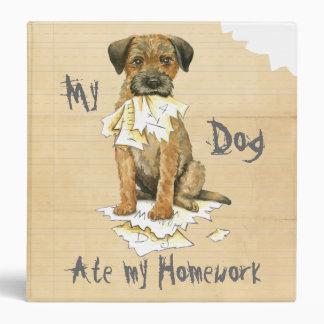 My Border Terrier Ate My Homework Binder