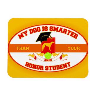 My Borzoi Is Smarter Rectangular Photo Magnet