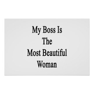 My Boss Is The Most Beautiful Woman Poster