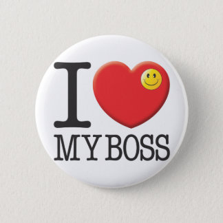My Boss Pinback Button