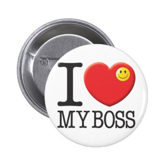 My Boss Pinback Button