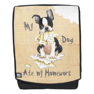 My Boston Terrier Ate My Homework Backpack