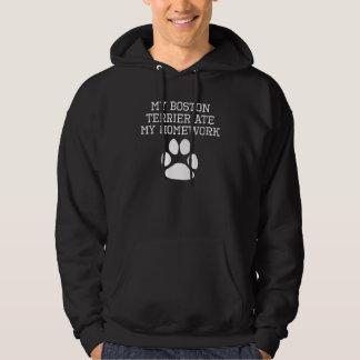 My Boston Terrier Ate My Homework Hooded Sweatshirts