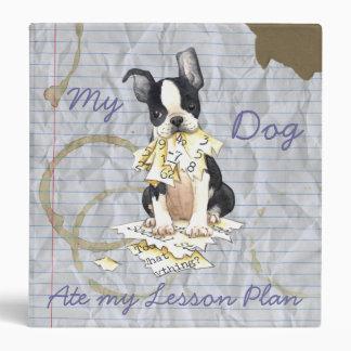 My Boston Terrier Ate My Lesson Plan Binder