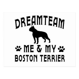 My Boston Terrier Dog Postcard