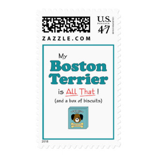 My Boston Terrier is All That! Postage
