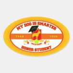 My Boston Terrier Is Smarter Oval Sticker