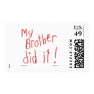 My Bother Did It! Postage Stamps