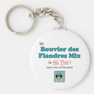 My Bouvier des Flandres Mix is All That! Basic Round Button Keychain