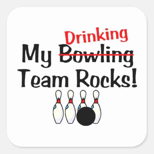 My Bowling (Drinking) Team Rocks Stickers