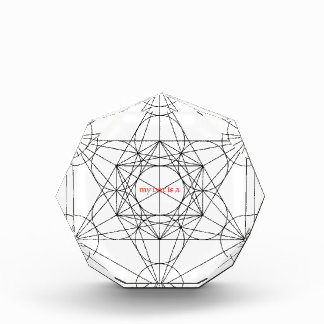 my box is a... Metatron's Cube Acrylic Award