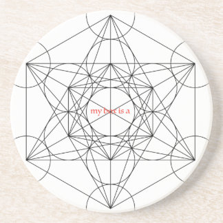my box is a... Metatron's Cube Drink Coaster