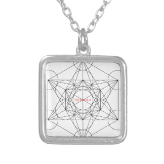 my box is a... Metatron's Cube Silver Plated Necklace