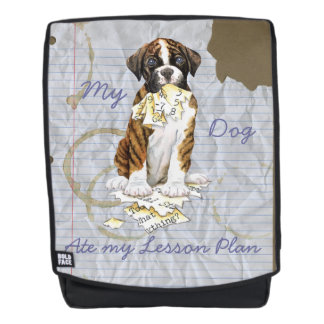 My Boxer Ate My Lesson Plan Backpack