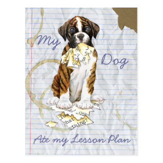 My Boxer Ate My Lesson Plan Post Card