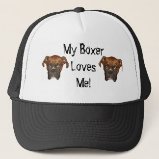 My Boxer Loves Me! Trucker Hat
