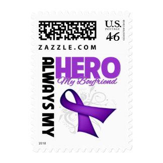 My Boyfriend Always My Hero - Purple Ribbon Postage