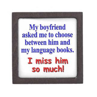 My boyfriend asked me to choose gift box