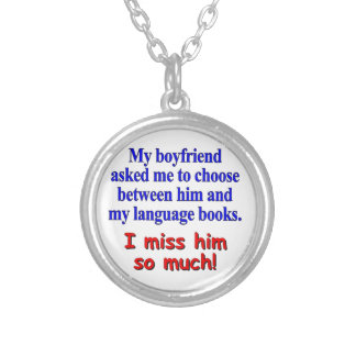 My boyfriend asked me to choose silver plated necklace
