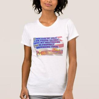 My Boyfriend Defends your freedom-Army T-Shirt
